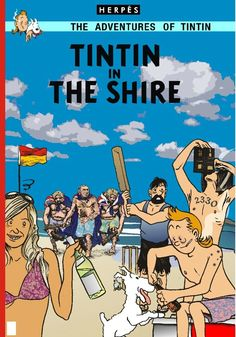 Tintin in the Shire by Glenn Smith