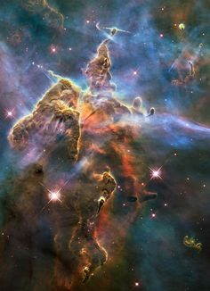 The Hubble Space Telescope - 2010: Pillar and Jets in Carina Credit: NASA, ESA, and M. Livio and the Hubble 20th Anniversary Team (STScI)