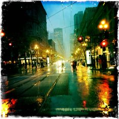 I took this during the storm that hit San Francisco last week at dusk. I love the colors.