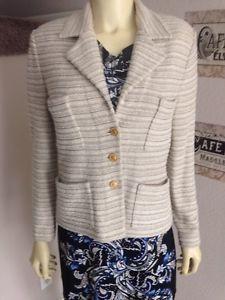 St John by Marie Gray Beige Cream Knitted Sweater Jacket 4 | eBay