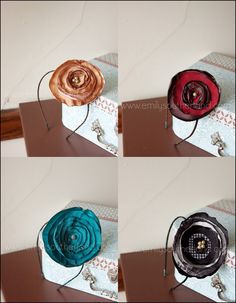 Singed Fabric Flowers...another great (and very easy!) tutorial from Emily Southerland...