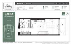 Le plan de l'unité 507B du projet de lofts de style new-yorkais Ogilvy Warehouse. 1428, Avenue Overdale, Montréal, QC H3G 2H1. 1/2