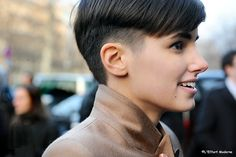 Anne-Catherine Frey... makes me want short cropped hair.