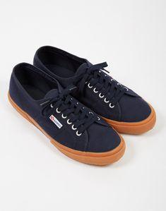 438df56cdf Superga. Superga 2750 COTU Classic Navy Gum Sole - Trainers   Plimsolls -  Shoes - Shop at The Idle Man