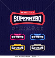 Super hero power full typography, t-shirt graphics, vectors - stock vector