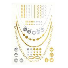 Nyári metal tetoválás Gold Necklace, Chain, Tattoos, Jewelry, Gold Pendant Necklace, Tatuajes, Jewlery, Jewerly, Necklaces