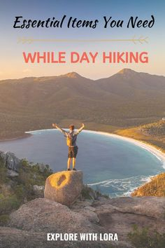 Even if you're going on a short day hike, it's important to be prepared. Here are ten day hiking essentials that you'll want to have in your bag everytime you hit the trails. #Hiking #Essentials