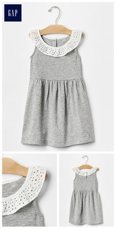Eyelet ruffle dress                                                                                                                                                                                 More