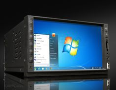 """E3iO Car PC II 7"""" Double Din, Mini ITX Motherboard, Intel Core i3, i5, i7 processors, Up to 16GB RAM, SSD for high performance and saved your music, pictures, videos and movies, Wi-Fi, Bluetooth, GPS, FM Radio, Microphone, Audio Amplifier 50Wx4CH, Rear Cam in (Screen Auto switch with reverse), Video in, 7"""" Samsung Sunlight readable touch screen, Customizable frame buttons, SD Card reader and USB 2.0 on front."""