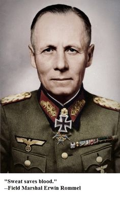 rationalistatheist:  Erwin Rommel believed in respect not just for his own troops, but for his adversaries. He ignored any orders (Even if they were from Hitler) to execute POW's, Jews or civilians. He fought for the Iron Cross, not the Swastika.