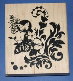Inkadinkado 'summer's Parade' Wooden Backed Rubber Stamp for sale online Flower Quotes, Mothers Day Crafts, Butterfly Flowers, Flourish, Stamp, Summer, March, Etsy, Summer Time