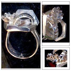 Zilveren fantasie ring.