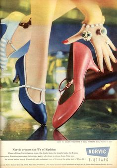 Norvic shoes June 1959.- These would be wonderful to dance in.