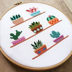 Cactus Cross Stitch Pattern PDF, Easy Cross Stitch, Succulents Counted Cross Stitch Chart, Modern Cacti Plants Embroidery, Gift for Mom Cactus Cross Stitch, Simple Cross Stitch, Cross Stitch Borders, Modern Cross Stitch Patterns, Cross Stitch Designs, Cross Stitching, Cross Stitch Embroidery, Embroidery Patterns, Easy Cross