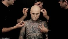 The Power of Concealer:  Zombie Boy Goes Under Cover with Dermablend at LuLus.com!