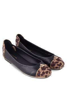 BF SOLE Animal Printed Ballerina Loafers With Embellishment 動物印花平底鞋