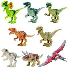 NW Jurassic World Dinosaur Figures Jurassic Park 4 Minifigures Bricks Models & Building Toys for Children Lego Compatible(Without Original Box) by NW education Dinosaur Toys For Kids, Animals For Kids, Kids Toys, Dinosaur Puzzles, Lego Animals, Lego Dinosaurus, Lego Jurassic Park, Lego Jurassic World Dinosaurs, Ocean Life