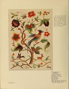 Jacobean crewel work and traditional designs Published 1900 by Briggs in Manchester .  Written in English. Edition Notes Cover-title: Jacobean embroidery and traditional designs.