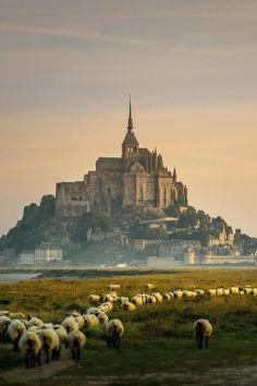 Sunrise in Mont St-Michel, France by Rudy Denoyette