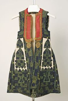 Ensemble 19th–early 20th century Greek (Attic) , wool, leather, metal, cotton, silk