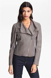 Elie Tahari Alexa Leather Jacket