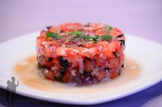 Ceviche, Vegetarian Recipes, Cooking Recipes, Asian Recipes, Ethnic Recipes, Cata, Catering, Seafood, Side Dishes