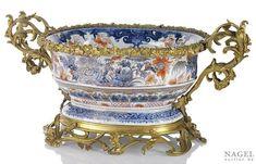 An ormolu mounted Imari porcelain bassin,China, Kangxi period, the mounts French, 19th century