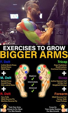 """They may not be the biggest or the strongest muscle group in your body, but your biceps are arguably the best """"show"""" muscles. These days, we don't just want our biceps to work, we want them to. Gym Workout Chart, Band Workout, Gym Workout Tips, Biceps Workout, Workout Men, Workout Plans, Workout Routines, Street Workout, Boxing Workout"""