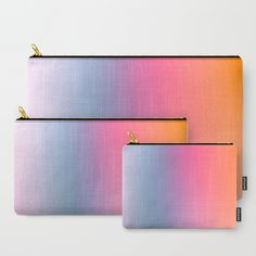 RAINBOW BLUSH Carry-All Pouch by Dominique Vari I I Minimal and refreshing, the perfect piece to chill and keep the Summer Vibes flowing year round… Colour Gradient, Art Friend, Art Bag, Duffle Bags, New Pins, Beautiful Bags, Pouches, Summer Vibes, Laptop Sleeves