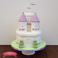 Princess Castle for Sisters - Cake by The Custom Cakery