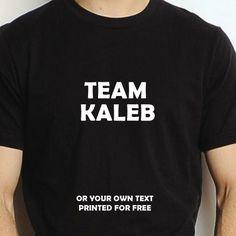 TEAM KALEB PERSONALISED T SHIRT BOYS NAME GIFT XMAS BIRTHDAY STAG SPORT