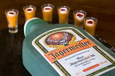 Jager Bomb Grooms cake. Jager and Redbull frosting!     Would get this cake for my nephew Joseph!