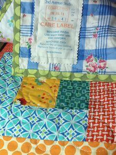 My latest label by Rachel @ 2nd Avenue Studio #quilt #label