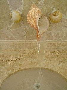 Seashell faucet for bathroom. I would have to have this in my tropical paradise of a home !!!