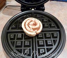 Cinnamon Bun Waffles. OMG. Doing this! LOL