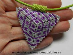 www.miscreacionesconabalorios.es: Tutorial sencillo para crear este triangulo de miyuki.