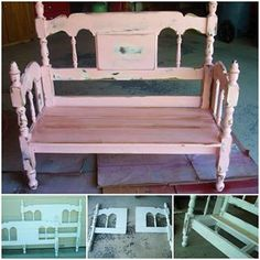 Bed to Front Porch Bench http://judysturman.typepad.com/in_his_grip/2010/04/bed-to-front-porch-bench.html