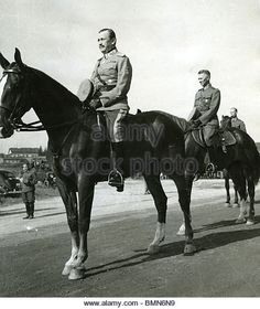 CARL GUSTAF  MANNERHEIM  (1867-1951) as Commander in Chief of Finland's Defence Forces in 1939 with General - Stock Image