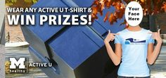 Don't forget to post a photo of you or your team wearing #ActiveU T-shirts! If you posted a photo on our Facebook page before, post it again to be entered into our last drawing! http://www.hr.umich.edu/mhealthy/programs/activity/activeu/prize-patrol.html