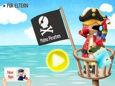 """Wimmel-Kinder-App """"Meine Piraten"""": Interaktive Wimmelbuch App mit Piraten"""