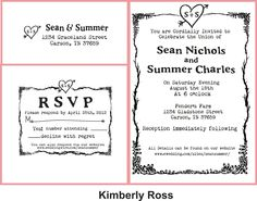 Wedding invitation rubber stamp with typewriter font and simple heart with initials. $125.00, via Etsy.