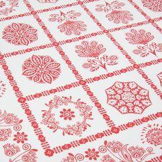 napkins red design in contrast (set of 20) - Tablecloths & napkins - table | Zara Home Greece / Greece