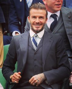 David Beckham showing how it's done at Wimbledon