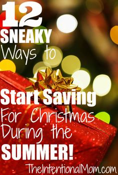 Does shopping at Christmas stress you out? Do you struggle to pay for all the presents, food, and special events? Here are 12 ways you can start saving during the summer to pay cash for Christmas this year.