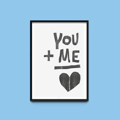 Druck // Print 'You + me' via DaWanda.com