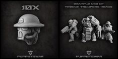 New release today: Trench Troopers heads https://puppetswar.eu/product.php?id_product=746