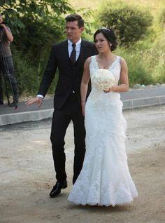 Croatian soccer player Dejan Lovren and Anita Lovren on their wedding day in 2012...