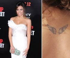 100+ Memorable Celebrity Tattoos: Jenna Dewan has a pair of wings tattooed on her upper back.