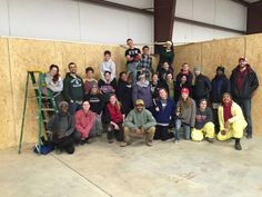 These terrific Collegiate Challenge students came and spent part of their holiday break building with Habitat Forsyth last week. Thank you University of Dayton and Ohio State students. You are helping tackle poverty housing! #habitatforsyth
