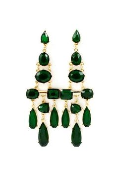 Emerald Deco Statement Earrings | Emma Stine Jewelry Earrings